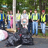 10.1.11 Herbert Run Stream Cleanup in Arbutus, Md. off Southwestern Blvd. behind Fire Station : Twelve volunteers braved the cold, damp and rainy weather on Saturday, October 1, to pick up approximately 440 pounds of trash from a section of Herbert Run, located off of Southwestern Blvd., behind the Fire Station parking lot.  Special thanks to our volunteers from Arbutus Improvement Assn., HCC and CCBC college students and other PHG members and friends!  Usual stream trash including plastic bottles, food wrappers, cans and glass bottles.  Most interesting items removed include: a pool table ball, beach umbrella, TV antenna, a piece of a Swifter broom, and an Indian chewing tobacco wrapper that said &quot;for sale in India only&quot; (it cost $.03) and all the vices -- lots of beer and liquor bottles, plastic shot glasses, empty &quot;dime bags,&quot; &quot;crack&quot; pipes, cigar and cigarette wrappers, underwear, and a syringe. We also uncovered a metal door, big chunks of Styrofoam packing material, old pull tops off of an aluminum can, a brick, electric outlet still in its case, fluorescent light bulbs, pieces of a Styrofoam cup, rainbow socks, &quot;wife beater&quot; type undershirt, electrical switches, leather belt, filled baby diapers, car mat, plastic storage box, blanket, fire extinguisher, Double A and other large batteries, part of a wooden door, cardboard pieces, used lumber and a rake. We collected lots and lots of plastic bags that were hanging on trees and tangled in the water and vegetation along the stream banks! One of our volunteers said &quot;They need to ban plastic bags!!!!!&quot; Some interesting nature spottings included: hole opening in bunch twigs for some kind of animal, water striders and lots of interesting varieties of mushrooms/fungus on trees, spotted by our visiting Virginia Master Naturalist Patty Maloney!
