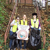 10.18.11 Patapsco River Cleanup in Historic Oella : Three wonderful volunteers from Howard Community College helped clean up along a section of the Patapsco River in historic Oella/Ellicott City.  Three hours later, they removed a full two bags of trash from the Patapsco River watershed area!  Great job girls!