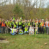 10.27.12 Tree Planting in Patapsco State Park in Avalon Area Near Lost Lake (Patapsco River &amp; Soapstone Branch watershed area) : The Patapsco Heritage Greenway, in partnership with Patapsco Valley State Park, sponsored its annuall fall tree planting on Saturday, October 27th with over 70 volunteers participating!!! Fifty-two new native trees were planted in the Avalon Area of Patapsco State Park, where we will plant 50 new trees in the area between the Patapsco River, Soapstone Stream and Lost Lake. Working with the park staff, we also agreed to conduct maintenance on the trees that the park planted last year, adding a little mulch and also putting fencing around the trees for the next 3 years to assist in their growth and health! Thanks to all the wonderful volunteers who came from different organizations and groups and all those other families and individuals who helped make this tree planting possible, especially our park ranger friends and the volunteers you see wearing the orange vests who were a part of our Tree Captain Team who helped guide our rookie tree planters!!!  This tree planting was dedicated in the honor of Clark Wagner, a long-time PHG member, who recently passed away.  Besides a tree named Clark, we have many more trees that were also named by our planters ... more details coming soon...
