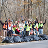 11.10.12 Cleanup on Deep Run &amp; Race Road in AA Co. w/ Lockheed Martin &amp; Members of the Public : The Patapsco Heritage Greenway sponsored a cleanup event on Saturday 11/10/12 and was fortunate to work with several groups to help us clean up Deep Run--a section of the Patapsco River. Thanks to all of you from HCC, UMBC and Lockheed Martin for helping our PHG friends to remove an amazing 2000 pounds of debris from this watershed!! Aside from the usual bottles, cans, plastic bags and food wrappers we usually find in our cleanups (washed down storm drains from litter in the streets and parking lots), there were some interesting items removed as well. We found and removed a concrete saw cart (350 lbs), 100 of plastic conduit, a refrigerator, a car bumper, a baby doll head, a washing machine tub, a wooden pallet, a metal folding chair and a section of chain link fence. A special thank you to our stream captains and helpers: Jeff Klein, Jon Merryman and Pete McCallum. Without all of your help, this 1 ton cleanup would not have been possible!!