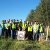 11.18.11 Tree Maintenance at Patapsco State Park, Belmont Area off Belmont Woods Road in Elkridge : On a cold Friday afternoon,  19 volunteers helped the Friends of Patapsco Valley &amp; Heritage Greenway conduct tree maintenance on trees that were previously planted.  In one section, we monitored American Chestnut tree seedlings that were planted 3 years ago in conjunction with the Maryland Forestry Board in an attempt to bring back this species of tree that was plagued by a blight that wiped out many of these trees throughout the east coast in the early 1900s.   Unfortunately, only 5 of these seedlings survived.  We also conducted tree maintenance on seedlings that were planted by Maryland DNR last year with the assistance of Patapsco Heritage Greenway volunteers and as part of an eagle scout project.  Volunteers pulled out weeds in both areas around the surviving trees, placed any needed mulch and straightened up the stakes and/or removed any of the shelters from tree seedlings that died.  Special thanks to our tree captain team:  Jeff Klein, Tim Titus, Jamie Petrucci and Betsy McMillion.  And a big thanks to all the volunteers who came out to lend a helping hand on this chilly fall afternoon!  A job well done in only a few hours to help these tree seedlings continue to thrive in an area of Patapsco State parkland near the Historic Belmont property in Elkridge, Maryland.
