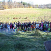 11.5.11 Tree Planting Along Thistle Run In Patapsco State Park Land &amp; Prep Work Days Before! : On a chilly, but sunny Saturday morning,  over 100 volunteers came out to help us plant 70 trees and 10 bushes as part of a riparian buffer along the headwaters of a small stream in Catonsville, Maryland known as Thistle Run, located adjacent to the Patapsco Horse Center off of Frederick Road.  This area has been on the Friends of Patapsco Valley &amp; Heritage Greenway's targeted tree planting area for several years.  In 2011, we were able to establish a partnership with Patapsco State Park and the Maryland DNR Ecosystem Restoration Watershed Services to conduct a tree planting along this stream;  we marked areas for five different species of trees and bushes to be planted, including 40 Sycamore Trees, 10 Red Osier Dogwood bushes, 10 Black Gum trees, 10 Willow Oak Trees and 10 Pin Oak Trees.  A lot of planning is involved with a tree planting.  On Wednesday, November 2, volunteers game out to mark where the trees were to be planted and flags were placed with symbols to identify the type of species to be planted at each location.  On Friday, November 5, volunteers helped with the acceptance of the delivery of the trees, bushes and supplies and organized them in preparation for Saturday's tree planting.   