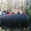 11.6.12 Cleanup on Deep Run off Race Road in Howard County with Girl Scouts from Troop 2336 : Patapsco Heritage Greenway's stream watcher, Jon Merryman, conducted a mini cleanup along a section of Deep Run off Race Road in Howard County on Election Day with girl scouts from Troop 2336!  Great job pulling that monster tubing out of the woods!!!