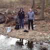 12.12.12 Cleanup Along Deep Run's Bascom Creek (Shallow Run) in Elkridge : Patapsco Heritage Greenway working with UMBC student Michael Vires conducted an informal cleanup along a section of Deep Run known as Bascom Creek and/or Shallow Run. He collected about 2 full trash bags of debris, which is about 50 pounds.  Located off of Glenmore Avenue in Elkridge, this little stream located in a known flood zone was covered with litter that had been washed down nearby storm drains and most likely from items washed from yards during Tropical Storm Sandy.  Interesting items removed include:  bottles, cans, plastic bags, a huge sign, parts of a car body, cups, oil canister, shards of glass, scraps of metal, foam from a seat, styrofoam cube and part of a fence!  Special thanks to Michael and his friend for cleaning up this stream for part of his student service learning requirement at school!!!
