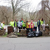 3.20.12 Patapsco River - Avalon Area - UMBC Alternate Spring Break Cleanup Near Grist Mill Trail : 