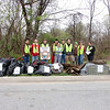 3.31.12 Herbert Run Cleanup at Hollins Ferry Road in Halethorpe : On March 31,2012, stream captains Jeff Klein & Pete McCallum of PHG lead a team of volunteers from HCC & FPVHG on a stream cleanup at Herbert Run. What they found was usual stream trash including plastic bottles, food wrappers, cans and glass liquor bottles. Interesting items included: tarp, sign, scrap wood & metal, blanket, TV & a tire with rim. Unfortunately, our stream captains noticed significant erosion control failure-the concrete is destroyed. Nevertheless, we are so grateful to our volunteers!