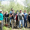 4.14.12 Deep Run Cleanup Along Pebble Creek Drive in Elkridge : The Patapsco heritage Greenway sponsored a stream cleanup in Elkridge along a section of Deep Run known as Pebble Creek. Thanks to our wonderful partners, the Pebble Creek Drive Neighbors, HCC &amp; PHG volunteers, we were able to do some very important work that was a bit different from our normal stream cleanups. There was only a small amount of the usual bottles, cans, plastic bags and food wrappers we usually find (washed down storm drains from litter in the streets and parking lots) that was removed. The main focus of this event was on clearing water flow channels of dense natural vegetation blocking the creek during rain events that created additional bank erosion as the water searched for alternate paths. Nature sightings included: a deer rib cage, small fish and a one-legged frog! A special thanks to our Stream Captain Team members Jim Apgar and Gary Brown, and great work to all of our volunteers for a job well done!
