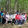 4.20.12 Patapsco River Cleanup in the Daniels Area of Patapsco State Park With Hollifield Station Elementary School : The Patapsco Heritage Greenway sponsored a watershed cleanup on a beautiful Tuesday in April in the Daniels Area of Patapsco State Park in Ellicott City. Special thanks to the wonderful 5th grade students, teachers, staff and parent helpers from Hollifield Station Elementary School, along with our PHG Stream Captain Team -- Betsy McMillion, Pete McCallum, Kathy Younkin, Dave Hutton and Lisa Wingate -- to help remove an amazing 318 pounds of trash and invasive garlic mustard from this watershed area!! Aside from the usual bottles, cans, plastic bags and food wrappers we usually find in our cleanups (washed down storm drains from litter in the streets and parking lots), volunteers also removed: asphalt, bricks, paper towels, gum wrappers, a potato chip bag and even a golf ball. Some of the nature spottings included: a snake, a black butterfly with polka dots, a turtle, a toad and worms. We would also like to thank Teacher Lori Speelman who organized so many volunteers to come out and lend a helping hand! Congratulations to the following teams who removed a lot of trash and garlic mustard: First place was Mrs. Varner's Class with 95 pounds; Second place was Ms. Powell's Class with 84 pounds; Third place was Ms. Lutzen's class with 83 pounds; and last, but not least, was Ms. West's class with 56 pounds! Great work and another big thanks to all of our volunteers for a job well done!!