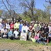 4.7.12 Hudson Branch Stream Cleanup w Frederick Road Neighbors &amp; Viridian Energy Employees in Ellicott City : On this sunny Saturday morning, 53 volunteers cleaned up about 1.5 TONS of debris from the Hudson Branch! They removed the usual stream trash of plastic bottles, food wrappers, cans and glass liquor bottles. Interesting items removed included tarps, pipe, sled, skateboard ramp, hose, carpet, a lot of car parts including 15 tires, back seat, doll, underground wire, bird cages, fencing, stroller, cooler, &quot;Welcome Aboard&quot; sign, bike &amp; bike parts, lawn mower, vacuum cleaner, toys, electric motor, panty hose, bowling ball, Xmas light bulbs, window blinds, baby pool, ceiling tile and marble flooring tile.