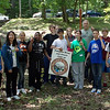 5.10.12 Patapsco River Orange Grove Cleanup With Hammond Middle School : The Patapsco Heritage Greenway sponsored a cleanup along the Patapsco River in the Orange Grove Area of Patapsco State Park, partnering with Hammond Middle School as part of the 7th grade student service learning project. A total of 125 volunteers removed 596 pounds of trash and 196 pounds of invasive garlic mustard in just two hours from the Patapsco River watershed!! Aside from the usual bottles, cans, plastic bags and food wrappers we usually find in our cleanups (washed down storm drains from litter in the streets and parking lots), some of the more interesting items removed included: 8 car tires, a wood pallet, 3 large wood planks, a Congested Area road sign, fencing, a flip flop, a rusted Virginia license plate, a fishing net, a bike tire, 3 feet of aluminum sheeting, Rebar, various car parts, broken glass, caution tape, a pair of pants, pipes, pieces of hard plastic and a lot of invasive garlic mustard was pulled! Volunteers even discovered the nest of a Canadian goose and a few snakes! Congratulations to Mr. Graf's Team who was the winner of all the student groups by removing an amazing 226 pounds of trash (and is featured on this site). Congratulations to Mr. Goody's Team who was the winner of all the student groups by removing an impressive 37 pounds of invasive garlic mustard. Also congratulations to Mrs. Furman's Team who was the winner of all the student groups by removing the most pieces of trash  94! Special thanks to Teacher Jennifer Furman, who organized this year's service learning cleanup project and the PHG Stream Captain Team who helped run the event including: Betsy McMillion, Jeff Klein, Pete McCallum, Kathy Swan, Chris Fiorito, Cathy Hudson, Jim Apgar and Van Wensil. Were so grateful to everyone who made today's cleanup a big success, and to our park rangers who removed the trash for us!!!