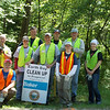 5.11.12 Deep Run Stream Cleanup Along Race Road With the Baker Group in Elkridge/Hanover : The Patapsco Heritage Greenway sponsored a stream cleanup in the Elkridge/Hanover Area along a section of Deep Run, which is part of Patapsco State Park land. Thanks to our wonderful partners, the Michael Baker Group--who brought along several energetic volunteers--as well as some of our other PHG friends, we eliminated an astonishing 1,080 pounds of debris from this watershed area! PHG has been working with Stream Watcher Jon Merryman and the park rangers to clean up this area, and what a difference these volunteers made in just a few hours! Aside from the usual bottles, cans, plastic bags and food wrappers we usually find in our cleanups (washed down storm drains from litter in the streets and parking lots); volunteers also removed some old junk that had been embedded for some time from previous flooding in this flood zone. Some of these items included: a CD, 13 tires, an air conditioner, an old ringer washing machine, a part of an old TV, a part of a new TV, a snuff package, a stick ball, hockey ball, basketball, soccer ball & a tennis ball, an old safety cone, silt fencing from a construction site, a car mat, a front car bumper, big chunks of Styrofoam, a safety barrel, a plastic pan,  part of a child's small pool, used lumber, an outboard motor and 15 bags of assorted garbage. Some wonders of nature included:  a male pileated woodpecker, quite a few snakes, green frogs and some tiger beetles. Special thanks to our Stream Captain Team members Betsy McMillion, Jon Merryman, Jeff Klein and Pete McCallum who led the group. Finally, we are so grateful to Alyssa McDonnell-Ellison from the Michael Baker Group, who organized their employees and helped organize today's event! Great work to all of our volunteers for a job well done! We had to move the video off of Youtube… Here's where it is now http://www.aidan.info/baker/DeepRunBakerCleanup11May2012.m4v.