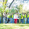 10.15.11 Tree Maintenance Along Herbert Run at UMBC &amp; Arbutus Middle School : The Friends of Patapsco Valley &amp; Heritage Greenway sponsored a fall tree planting on Saturday, October 15th!  What a beautiful morning in Arbutus, off of Shelbourne Avenue!  Seventeen wonderful volunteers helped us pull out weeds growing up the trees, trim tree limbs and readjust wooden stakes so trees that were previously planted will continue to grow along a riparian buffer off of a section of Herbert Run that runs along U.M.B.C. property and Arbutus Middle School.  Ouch, for the first time ever, we discovered some wasps that made their nest in one of our trees.  But brave volunteers, Doug Stull and Ken Smith, managed to continued to help even after being stung by those nasty things!   Special thanks to all the college students from U.M.B.C., Howard Community College, Community College of Baltimore, Patapsco Heritage Greenway members and other friends that joined us to help nurture these trees providing an important buffer to this stream!  Special thanks to our tree captains who helped make this event successful - Betsy McMillion, Tim Titus, Jeff Klein, Kit Valentine and student intern Ken Smith!